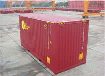 Cellular palletwide container