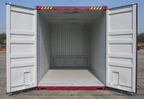 Bulker container open doors