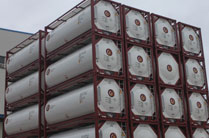 Stack of insulated ISO tanks