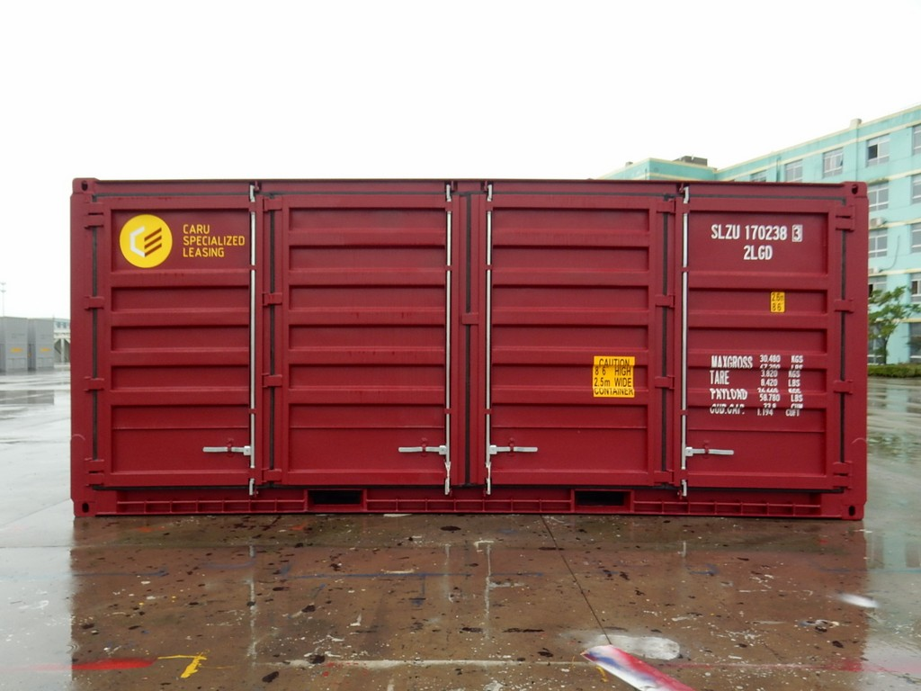 Closed side door container